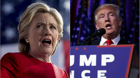 Hillary Clinton, Donald Trump, USA
