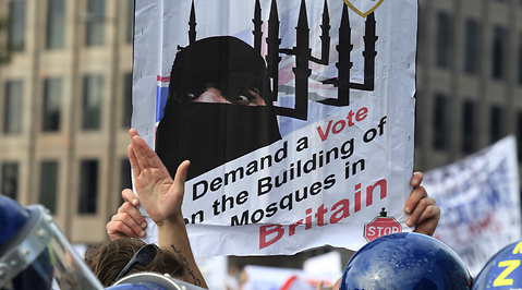 Protester, English Defence League, Swedish Defence League, Högerextrema, Demonstration, Muslimer