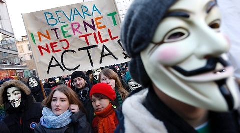 Internet, Integritet, Piratpartiet, Acta, Demonstration, Sergels Torg