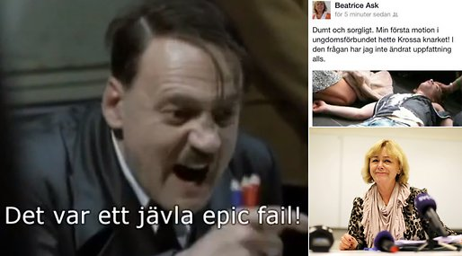 Daily Currant, Facebook, Cannabis, Eva Flyborg, Marijuana, Moderaterna, Justitieminister, Beatrice Ask