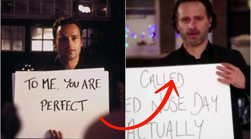 Red nose day actually, Love Actually