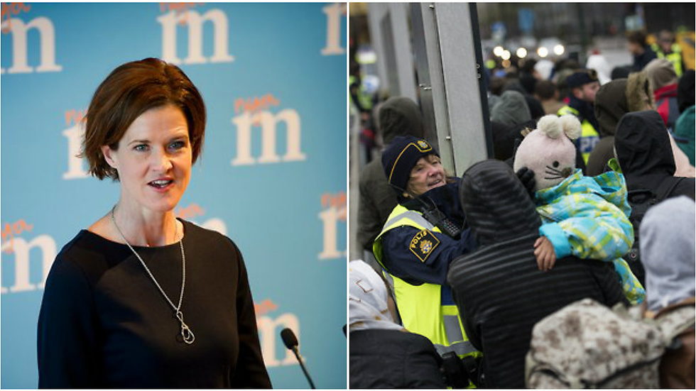 Moderaterna svarar på Migrationsverkets prognos.