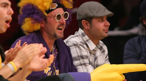 Clown, LA Lakers, Howard Stern, Courteney Cox, David Arquette