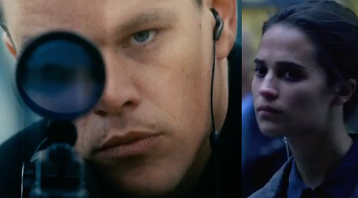 Matt Damon, Alicia Vikander, Jason Bourne