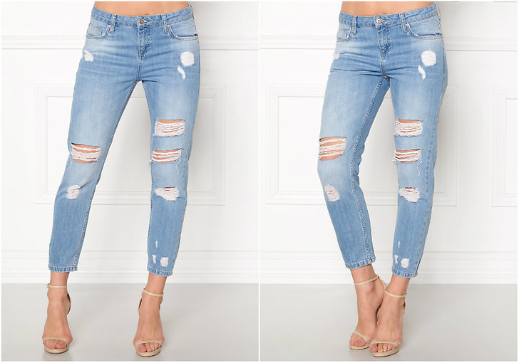 Slitna girlfriend jeans