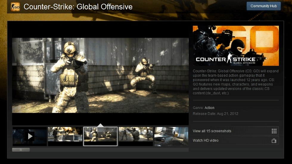 Counter-Strike Global Offensive.