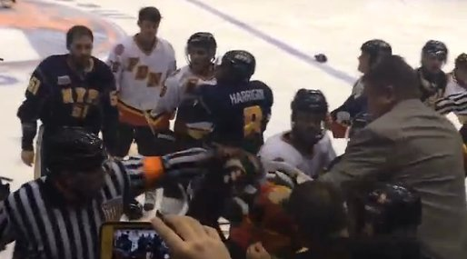 Poliser, New York, Brak, Brandmän, Hockeyfight
