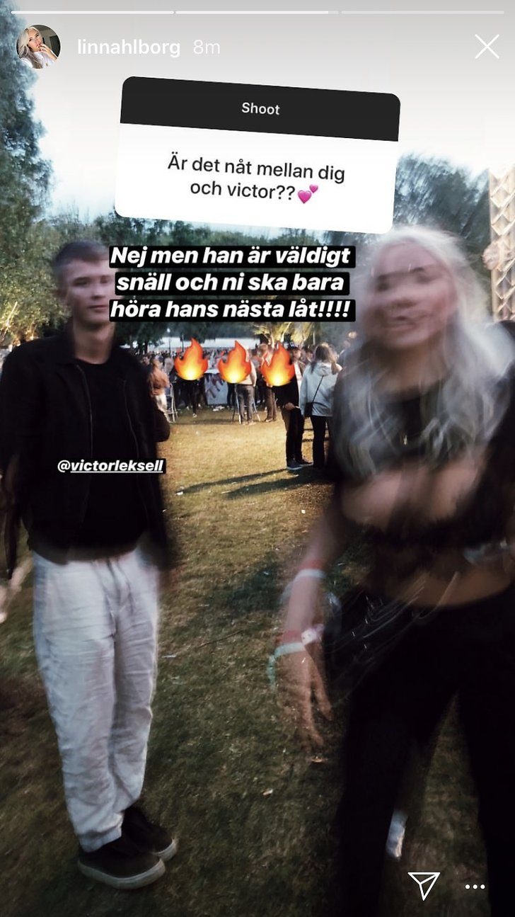 Linn Ahlborg och Victor Leksell på Way out West.
