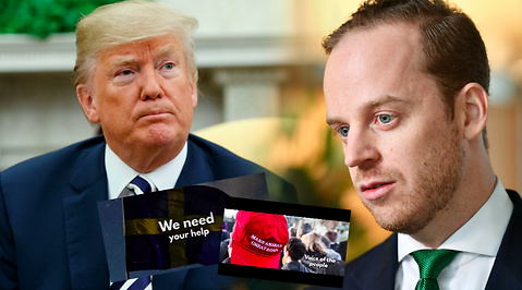 Alternativ för Sverige, Gustav Kasselstrand, Donald Trump