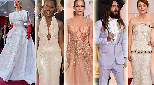 Outfits, Julianne Moore, Jennifer Aniston, Jared Leto, Oscarsgalan