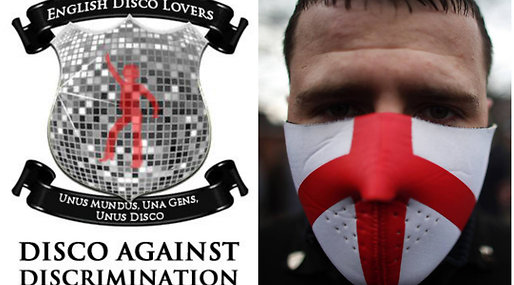 Disco, Storbritannien, English Disco Lovers, Twitter, English Defence League, Google, EDL, Kupp, Facebook
