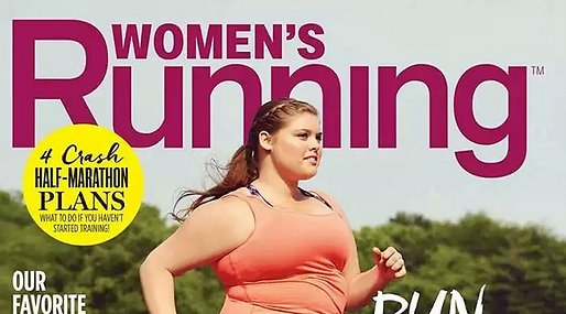 Lopning, Plus-size modell, Tidning, Magasin, body positiv, women's running