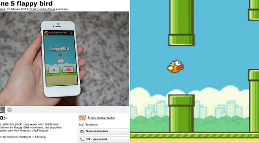Tradera, Blocket, Flappy Bird