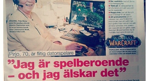 Spelberoende, World of Warcraft, Pensionär, Pirjo Bergqvist