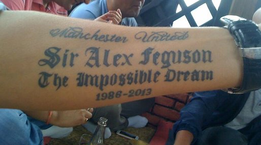 Tatuering, Sir Alex Ferguson,  Sir Alex Feguson, Sir Alex, Manchester United, Supporter