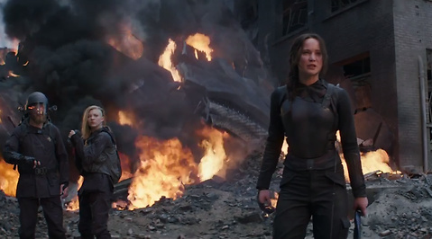 Katniss Everdeen, Brinna, Mockingjay, The Hunger Games, Jennifer Lawrence, Trailer
