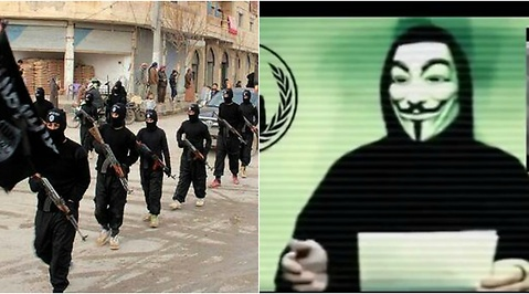 Hacker, Anonymous, Hacking, Paris, Islamiska staten
