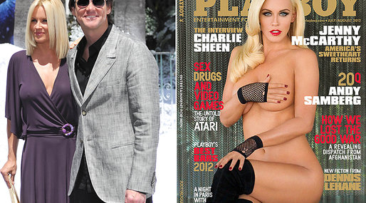 kändis, 2012, Hugh Hefner, Jim Carrey, USA, Stjärna, Omslag, Playboy, Jenny McCarthy, Cover, Hollywood