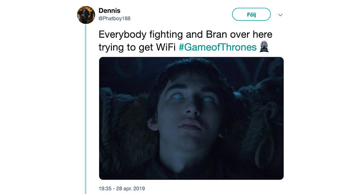 Memes, Bran, Game of Thrones säsong 8 avsnitt 3.