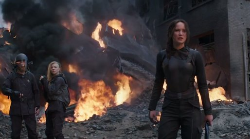 Trailer, Hunger Games, Jennifer Lawrence,  Katniss Everdeen, Brinna,  Mockingjay