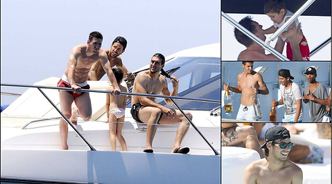 Lionel Messi, Semester, Fotboll, Marbella, Cesc Fabregas, Ibiza, David Silva, Ashley Cole