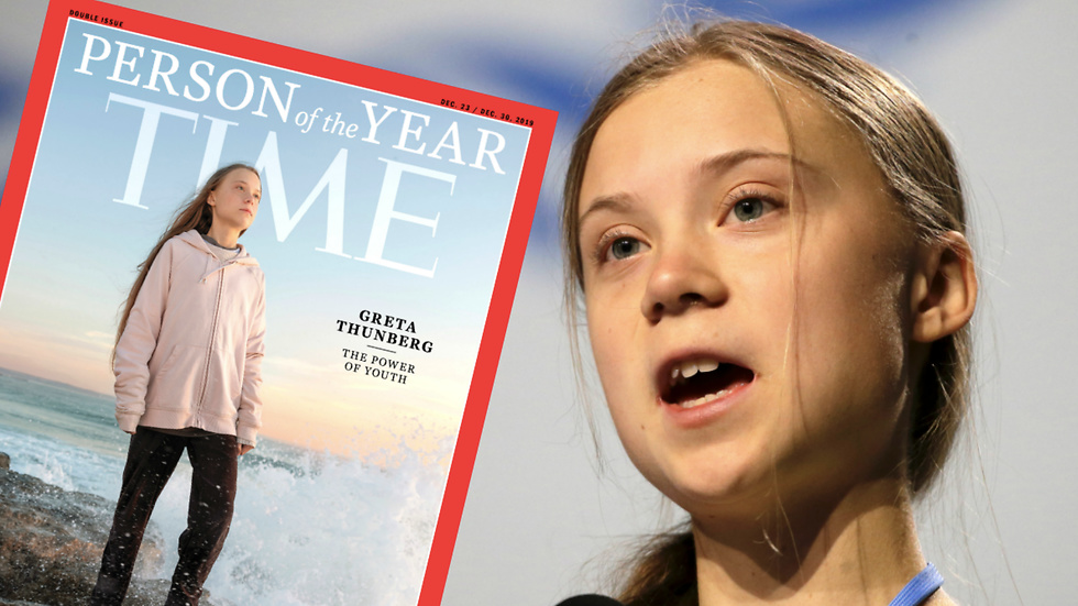 Greta Thunberg, person of the year, Time Magazine.