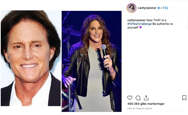 Caitlyn Jenner, 10 year challenge