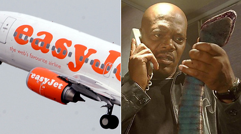 Twitter, Easyjet, Samuel L. Jackson, Snakes on a plane, Flygplan, Orm, Passagerare