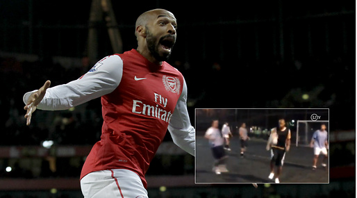 Konster, Thierry Henry, Futsal, Arsenal