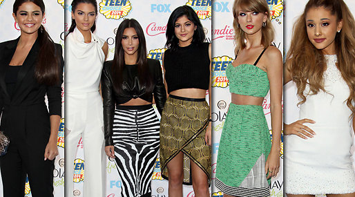 Kim Kardashian, Selena Gomez, Teen Choice Awards