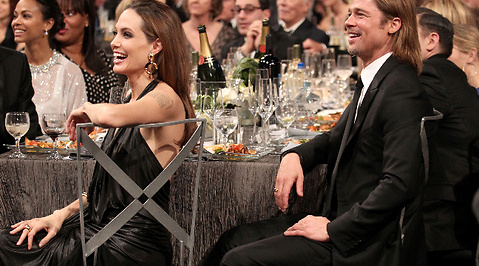 SAG Awards, Screen Actors Guild Awards, Kyss, Hollywood, Gala, Angelina Jolie, Brad Pitt, Brangelina, Hångel, Relationstips