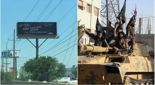 Chicago, Muslimer,  ISIL, Billboard,  Daesh, O'Hare, is, Amerikanska muslimer, Islam, Muslimer mot IS,  ISIS