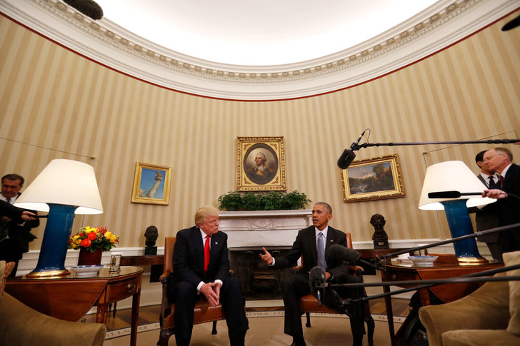 Donald Trump och Barack Obama