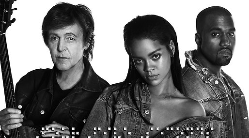 Paul McCartney,  fourfiveseconds, Rihanna,  Kanye