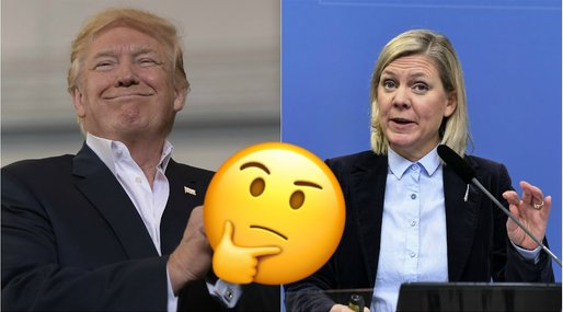 Donald Trump, Magdalena Andersson, Fake news