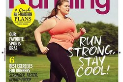 body positiv,  women's running, Plus-size modell, Magasin, Lopning, Tidning