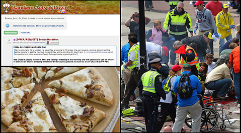 Twitter, Pizza, Hjälp, Bomber, Boston Marathon, Boston, reddit