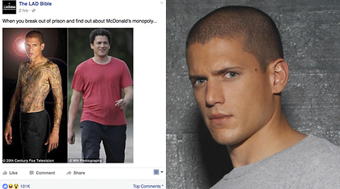 Självmord, Meme, Wentworth Miller, Prison Break, Facebook, Depression
