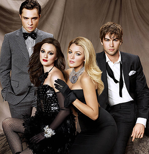 Ed Westwick, Leighton Meester, Blake Lively och Chace Crawford.