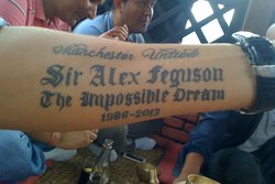 Sir Alex Feguson, Sir Alex, Manchester United, Supporter, Tatuering, Sir Alex Ferguson