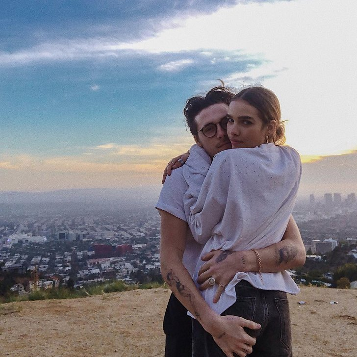 Brooklyn Beckham och Hana Cross.