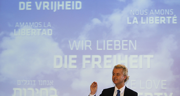 Wilders infor ratta for hatbrott