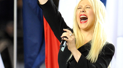 Christina Aguilera, Twitter, Superbowl, Hollywood, USA, Nationalsången, amerikansk fotboll