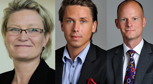 Riksdagen, Carina Moberg, Johnny Munkhammar, William Petzäll