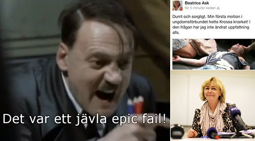 Cannabis, Facebook, Beatrice Ask, Justitieminister, Marijuana, Moderaterna, Daily Currant