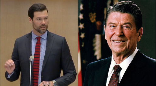 Johan Forssell, Ronald Reagan, Moderaterna