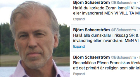 Uteslutning, Twitter, Moderaterna