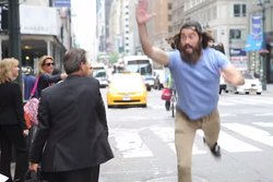 New York,  high five, Video, Geddit