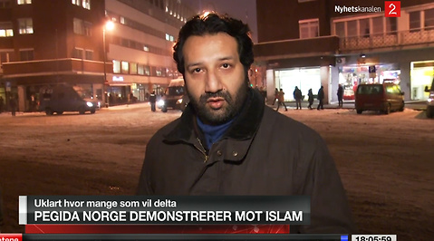 Norge, TV, Demonstration, Rasism, Reporter