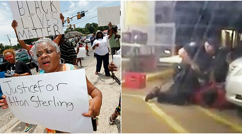Protester, Black lives matter, Alton Sterling